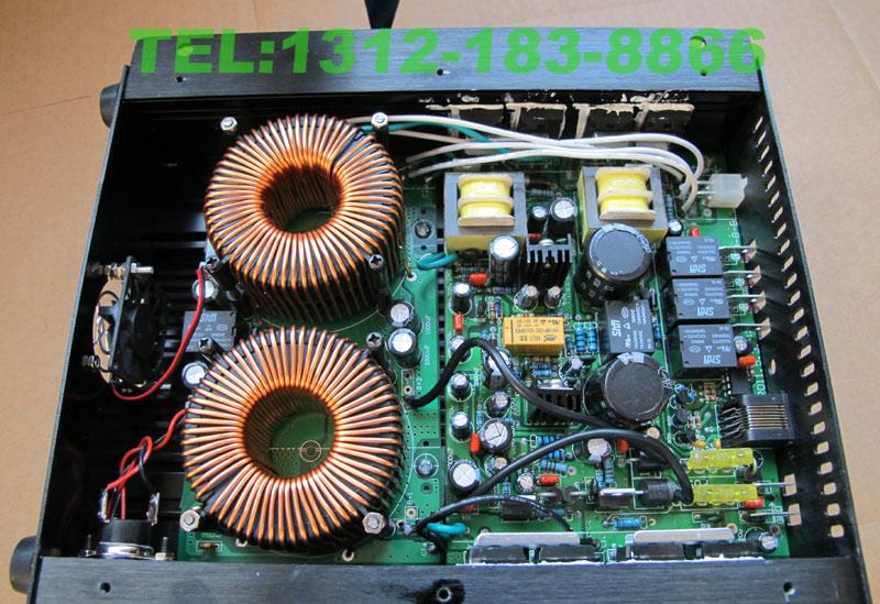注意看,电路板不是一体的,是由2块合并而成的,典型的拼凑!